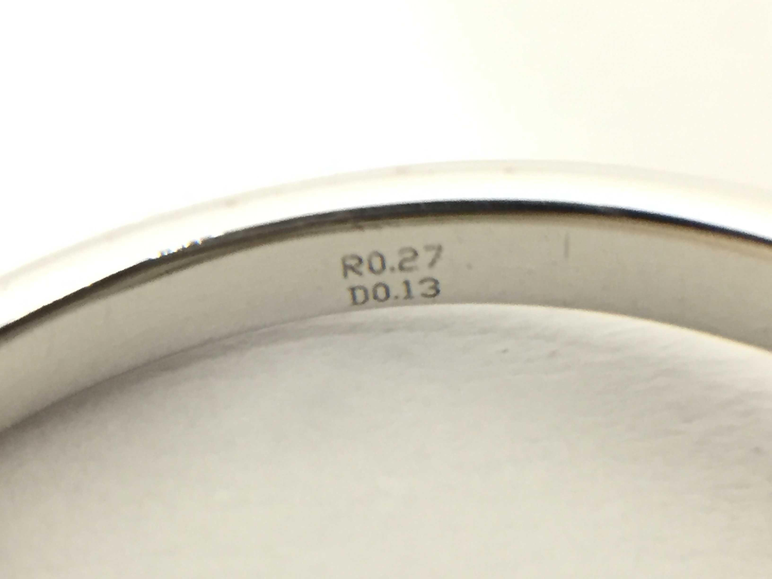 ポンテヴェキオ R0.27ct D0.13ct K18WG 3.0g リング(貴金属)