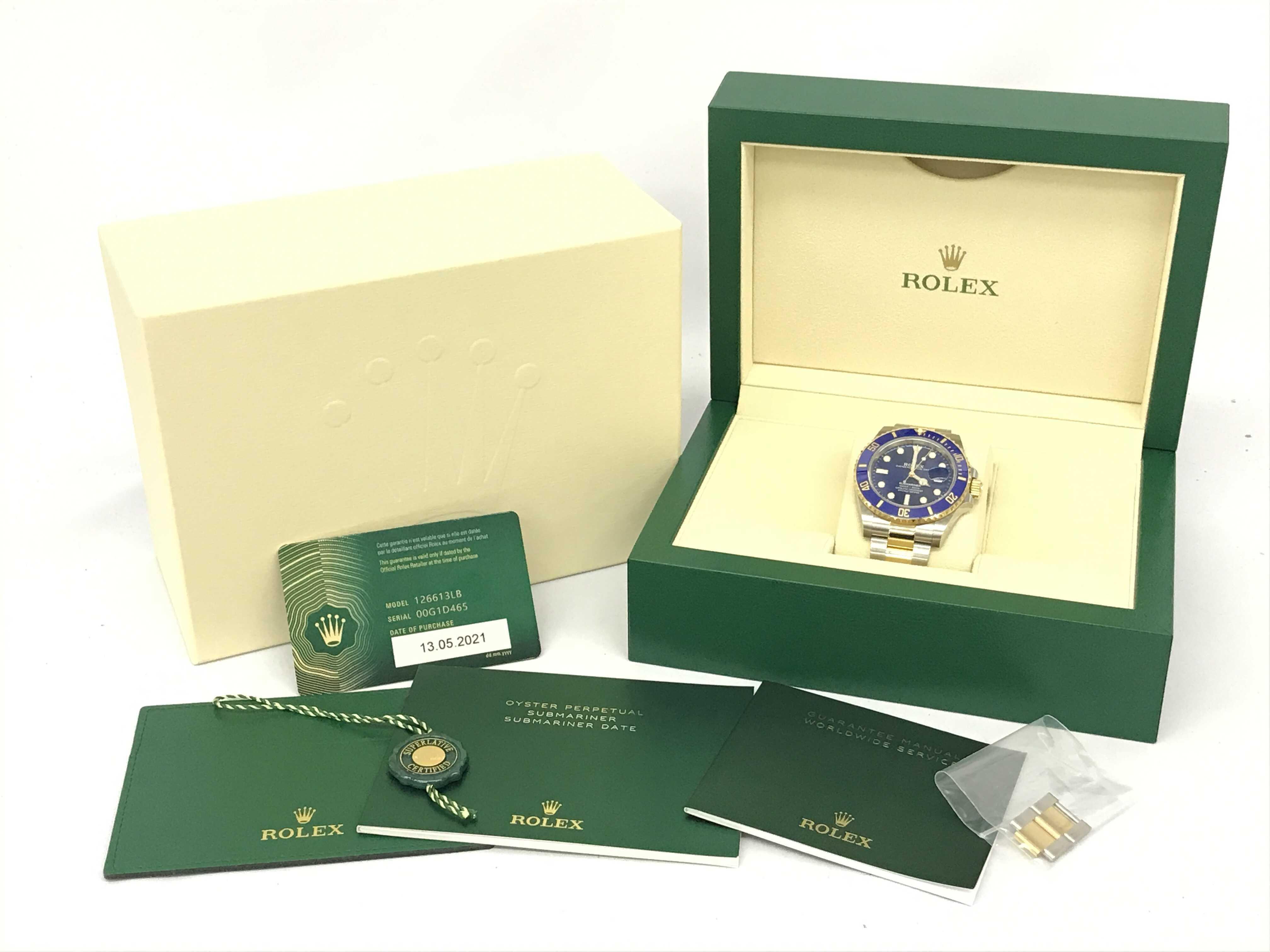 (1630_0307)ロレックス 126613LB 00G1D465 メンズ腕時計