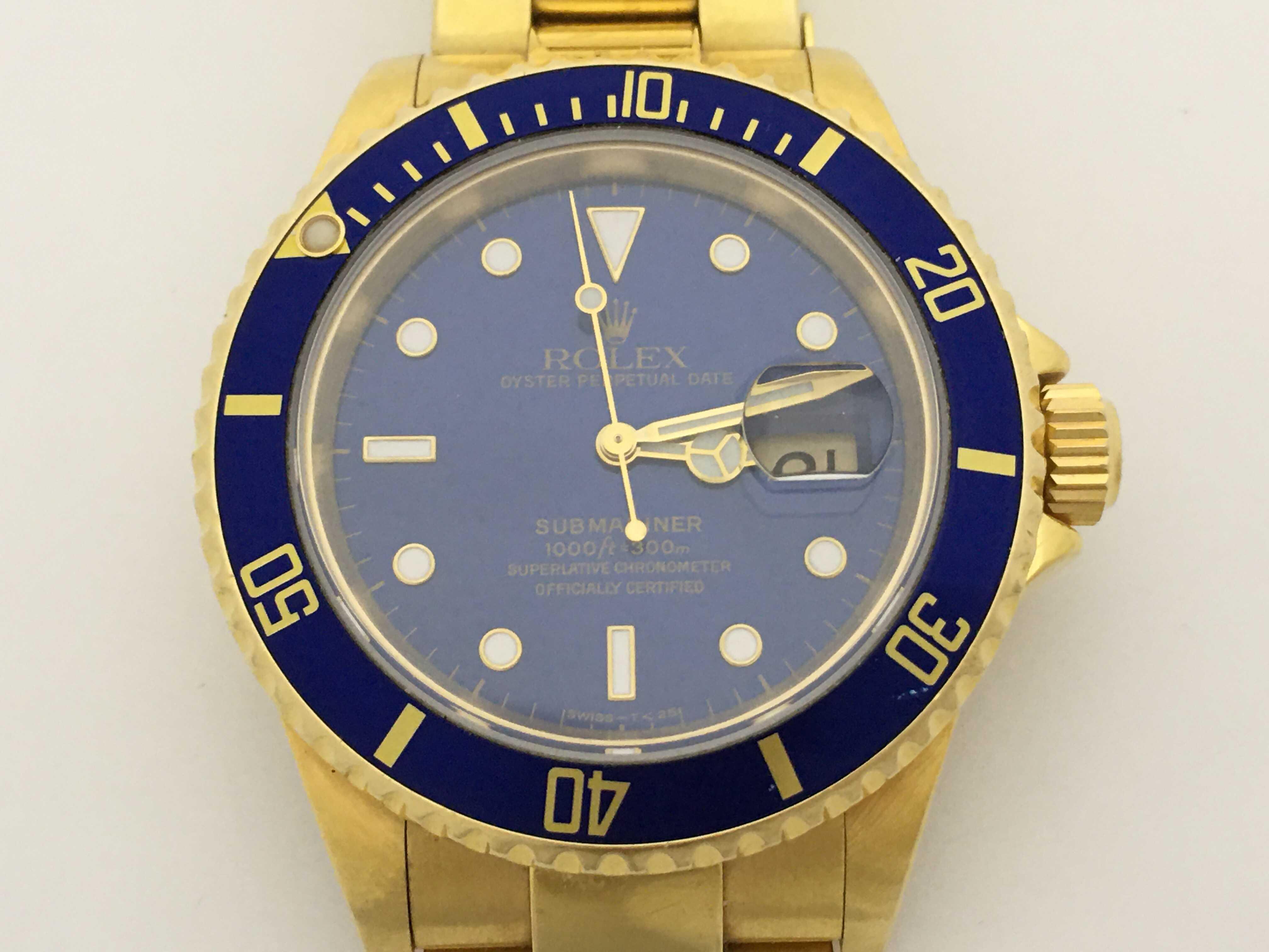(1630_0174)ロレックス 16618 N221772 青文字盤 メンズ腕時計