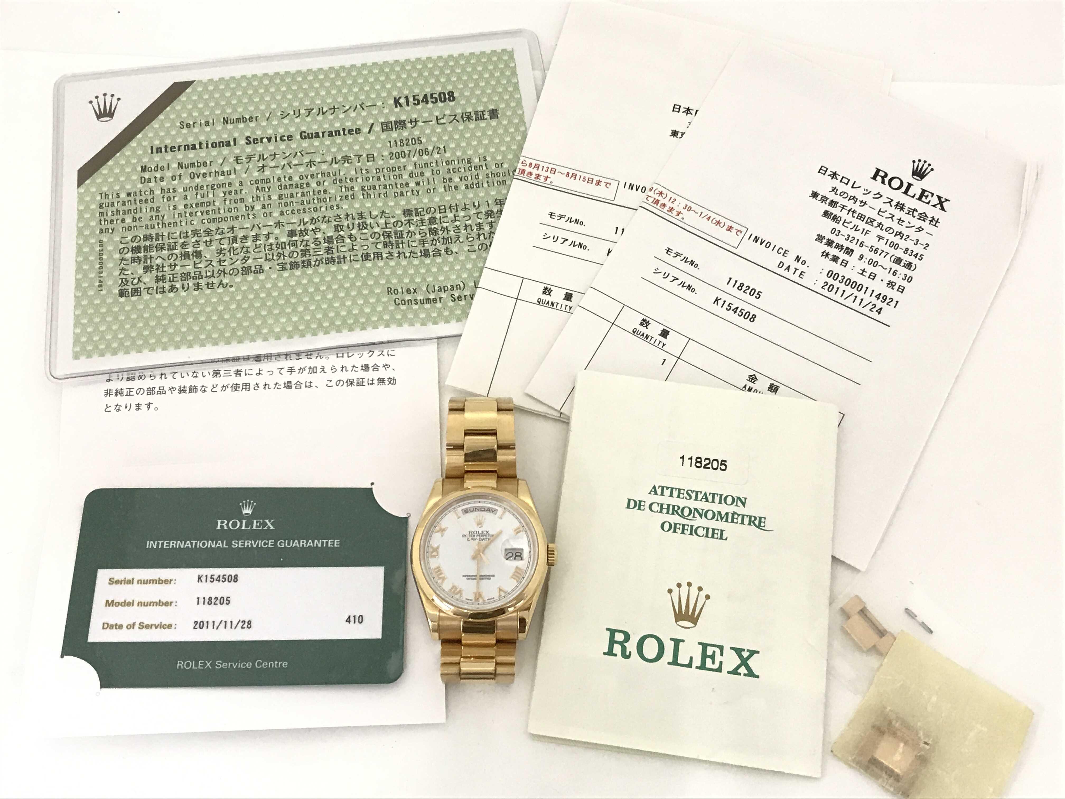 (1630_0297)ロレックス 118205 K154508 メンズ腕時計